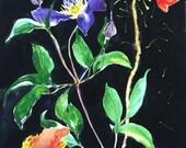 Botanical study No.3 original watercolor flower painting