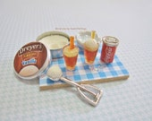 Reserved - Dollhouse Miniature Coke Float Ice Cream Soda
