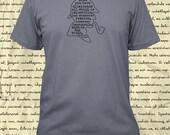Sherlock Holmes Shirt - Mens Shirt - Sherlock Holmes Quote - Improbable Truth - Tshirt - 4 Colors Gift Friendly