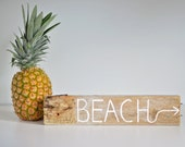 Driftwood Coastal Decor Art Beach Sign