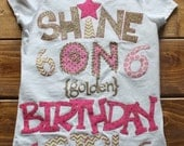 Golden Birthday Shirt, Birthday Girl Outfit, Girl Birthday Shirt, Pink and Gold Theme Birthday, Made To Order