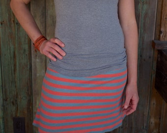 Striped Skirt- Organic clothing, handmade in the USA - Inventory SALE