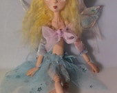 PORCELAIN PUPPET, jointed porcelain Fairy art doll, made in the USA