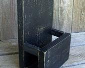 Large Wood Brochure or Menu Holder,Stand, Rustic, Side Enclosures, Tri-Fold Brochure Stand, Brochure Display, Literature Holder, Menu Holder