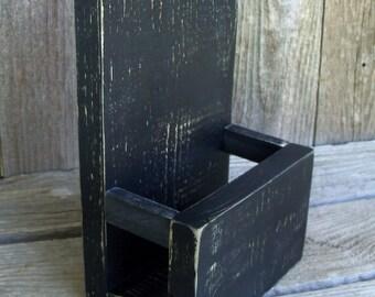 Tri-fold Large Wood Brochure or Menu Holder,Stand, Rustic, Side Enclosures, Brochure Stand, Brochure Display, Literature Holder, Menu Holder