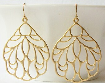 Large Floral Earrings