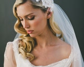 SALE Ivory French Lace Juliet Cap Two Tier 65 Inch With 34 Inch Bridal Illusion Tulle Kate Moss Veil 1551