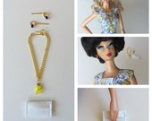 Barbie Handmade Necklace Earrings Clutch Fashion Doll Jewelry