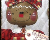 """Primitive Raggedy NEW 2015 """"COOKIE"""" Gingerbread Collection! 14"""" doll w/sifter!!"""