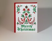 "Dutch ""Merry Christmas"" letterpressed card - individual card"
