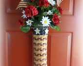 Long Patriotic Basket door greeter