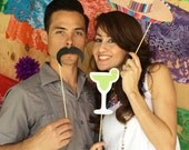 Cinco de Mayo Fiesta Printable PHOTO BOOTH PROPS Sombrero, Tequila, Margaritas - Editable Text >> Instant Download | Paper and Cake