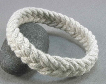 white herringbone rope bracelet soft bangle turks head knot sailor bracelet armband rope jewelry 2778
