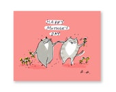 Happy Mother's Day Card - Cat Dance - Cat Mom Card