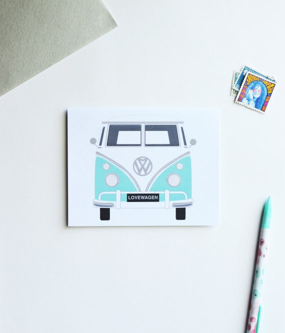 anniversary card, anniversary card for him, for men, i love you card, wedding anniversary card anniversary cards, volkswagen bus cards