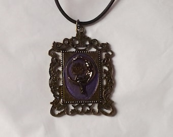 Art Deco Moon Lady Resin Pendant Necklace With Vintage Watch Gears Lolita Steampunk Jewelry