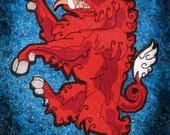 Giant Rampant Boar Heraldic Heraldry  Iron on Patch