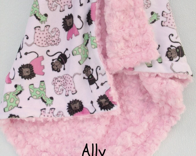 Minky Baby Blanket, Elephant Baby Blanket, Elephant Blanket, Animal blanket, Toddler Blanket, Baby Girl Blanket