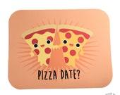 Pizza Date? Card, Blank Inside