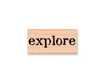 explore-sentiment-wood mounted rubber stamp (#33-31)