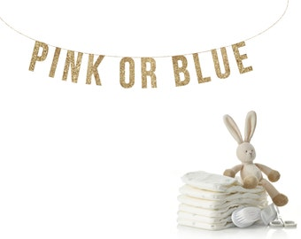 PINK OR BLUE Gender reveal banner, baby shower decorations, reveal party banner, baby shower banner, Pink or Blue banner Baby Shower Banner,