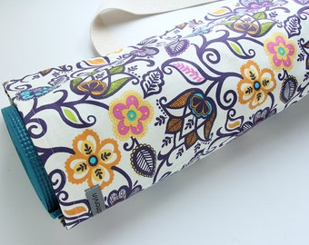 Yoga Bag, Yoga Mat Carrier, Flowers, Yoga Mat Tote, Yoga Mat Sack, Yoga Mat Bag