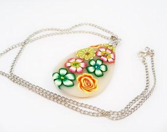 Women's Necklace, Flower Pendant Necklace, Spring Summer Jewelry, Women's Gift, Pendant Necklace