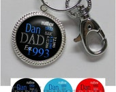 Father's Day Keychain - Personalized Dad Keychain with Kids Names in 6 Colors, Braided Edge Pendant (A257)
