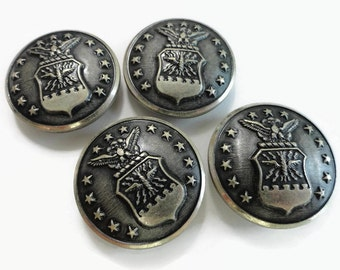 Air Force Vintage Metal Coat Buttons