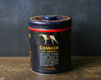 Tobacco Tin Granger Pipe Tobaco Vintage From Nowvintage on Etsy
