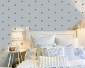 120 Gold or Silver Metallic 2 inch Dots Vinyl Wall Decals