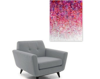 Digital Print, Hot Pink White Ombre Abstract Painting, Instant Digital Download DIY Reproduction, Modern Home Decor, fuchsia purple