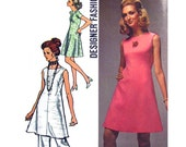 Womens Dress & Pants Pattern Simplicity 8775 Sleeveless or Short Sleeve Dress Trousers Womens Sewing Pattern Bust 34 Vintage Pattern