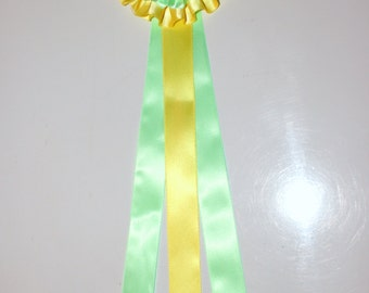 1 Deluxe Bi Colored Model Horse Rosette, 13 inches, Choose Your Colors, Double Frilled, One Rosette