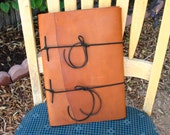 Large Caramel Brown Leather Journal~Book of Shadows~Sketch Book~Art~Witch~Pagan