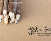 Butterfly Personalized Self-Inking or Wood Rubber Stamp with address or any text 0100