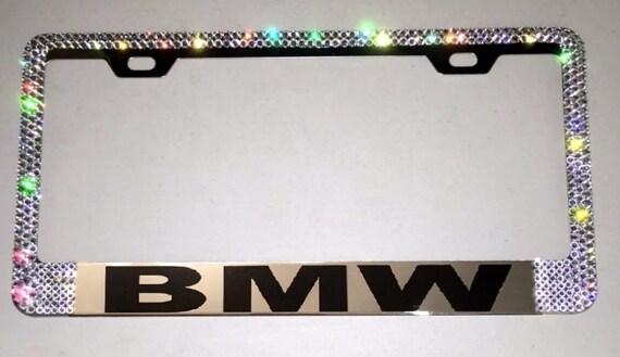 swarovski crystal license plate frame bmw car jewelry
