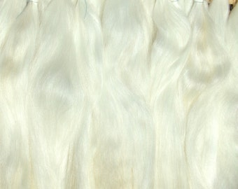 Combed White Suri Alpaca Doll Locks 7-8 inches Custom Order YOUR CHOICE of weight
