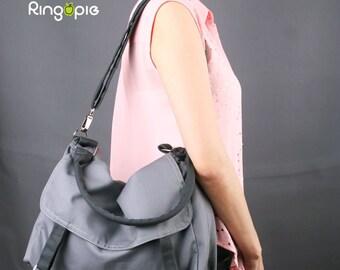 Sale 20%OFF-Ready To Ship--Mole Gray Messenger bag/school bag/purse/handbags/casual bag/shoulder bag/for her/for him/women/men/tote bag/-080