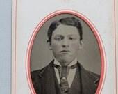 Framed Tintype Portrait of Handsome Boy