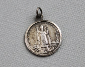 RARE Saint Etton Patron of Dompierre sur Helpe / Saint Zeal / Antique French Religious Medal