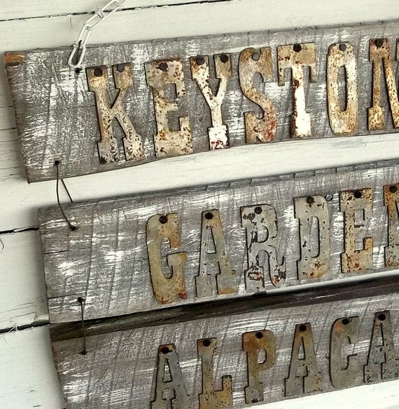 Reclaimed Wood Signs: Items Similar To Personalized Reclaimed Wood Sign
