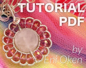 Pink Daisy Pendant PDF tutorial