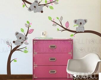 Removable Australia Koala Bear wall decal on branches Animal , Nursery Wall Decals -  wall sticker - wall decor