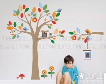 Reusable Fabric Wall Decal -Skip Hop Bedding - Apple Tree, Owl, Nursery Wall Decal- wall sticker