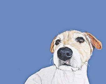 Custom Pet Portrait - Hand Painted 11x14 inch Pet Illustration -Fathers Day Gift - Pet Loss -  Pet Keepsake
