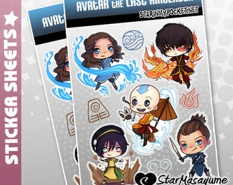 Avatar the Last Airbender Stickers