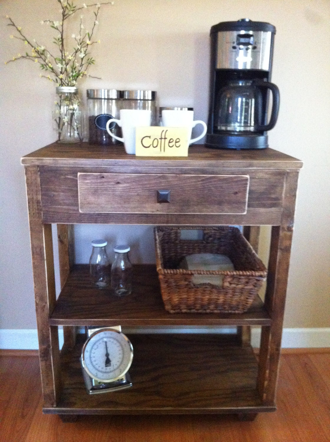 coffee bar rustic coffee bar kitchen island farmhouse. Black Bedroom Furniture Sets. Home Design Ideas