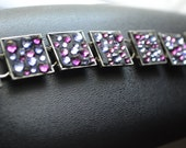 Shades of Purple Square Link Bracelet
