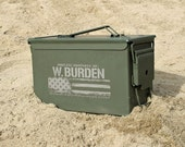 Husband Gift, Boyfriend Gift, Valentines Gift for Men Personalized Ammo Box for Him Custom Ammo Can Personalized Gift for Him